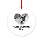 HAPPY VALENTINES DAY (BOSTON TERRIER) Ornament (Ro