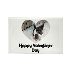 HAPPY VALENTINES DAY (BOSTON TERRIER) Rectangle Ma