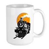 Railroad train Large Mugs (15 oz)