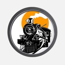 Cute Locomotive Wall Clock