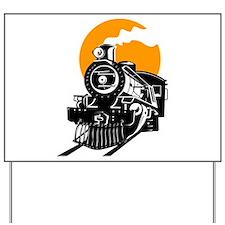 Cute Steam engine Yard Sign