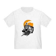 Steam train with sun T-Shirt