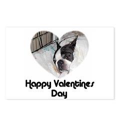 HAPPY VALENTINES DAY (BOSTON TERRIER) Postcards (P