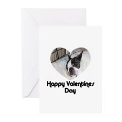 HAPPY VALENTINES DAY (BOSTON TERRIER) Greeting Car