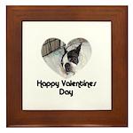 HAPPY VALENTINES DAY (BOSTON TERRIER) Framed Tile