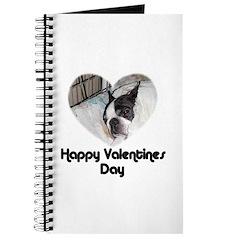 HAPPY VALENTINES DAY (BOSTON TERRIER) Journal