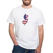 NJ USA Flag Map 1 Shirt