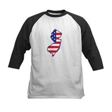 NJ USA Flag Map 1 Tee