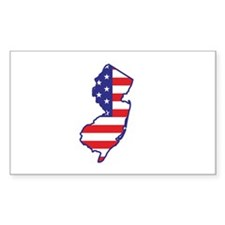 NJ USA Flag Map 1 Decal