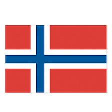 Norway/Norwegian Flag Postcards (Package of 8)