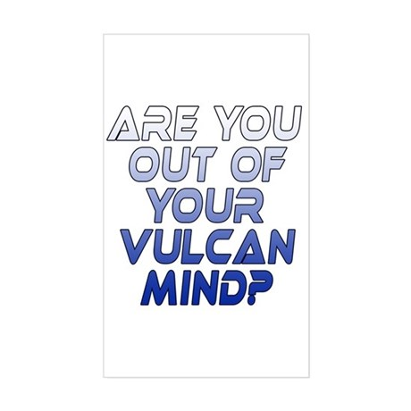 Out of Your Vulcan Mind Sticker (Rectangle)