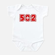 502 red Infant Bodysuit