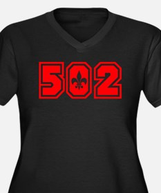 502 red Women's Plus Size V-Neck Dark T-Shirt