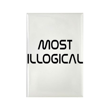Spock Quote Most Illogical Rectangle Magnet