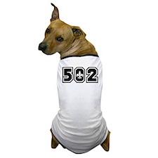 Black/White 502 Dog T-Shirt