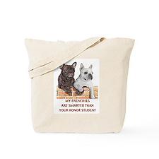 smart french bulldogs Tote Bag
