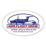 Fixed Wing EMS - King Air 200 Sticker (Oval)