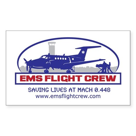 Fixed Wing EMS - King Air 200 Sticker (Rectangle)