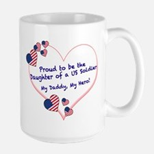 Proud of Dad, US soldier Large Mug