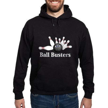 Ball Busters Logo 6 Hoodie (dark) Design Front Cen