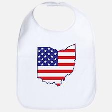 OH USA Flag Map 1 Bib