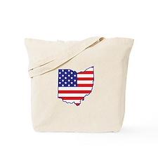 OH USA Flag Map 1 Tote Bag