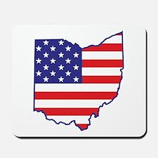OH USA Flag Map 1 Mousepad