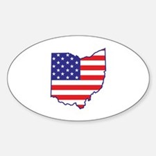 OH USA Flag Map 1 Decal