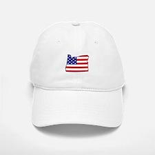 OR USA Flag Map 1 Baseball Baseball Cap