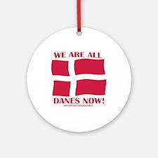 Support Denmark Free Speech Ornament (Round)