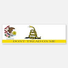 Don't Tread on Me Illinois Bumper Bumper Sticker