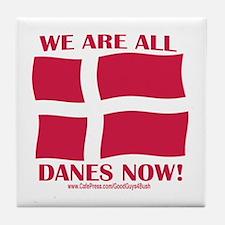 Support Denmark Free Speech Tile Coaster