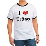 I Love (Heart) Tattoos Ringer T