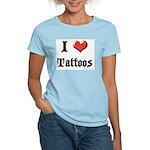 I Love (Heart) Tattoos Women's Pink T-Shirt