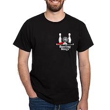 Bowling Kings Logo 15 T-Shirt Design Front Po