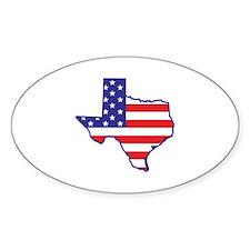 TX USA Flag Map 1 Decal