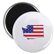 "WA USA Flag Map 1 2.25"" Magnet (10 pack)"