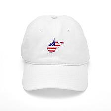 WV USA Flag Map 1 Baseball Cap