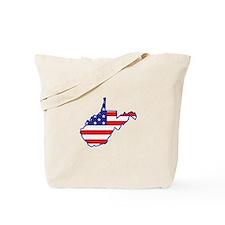 WV USA Flag Map 1 Tote Bag