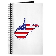 WV USA Flag Map 1 Journal