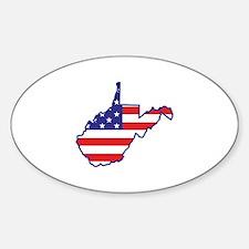 WV USA Flag Map 1 Decal