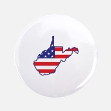 "WV USA Flag Map 1 3.5"" Button (100 pack)"