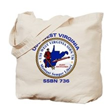 USS West Virginia SSBN 736 Tote Bag