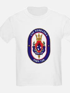USS Nebraska SSBN 739 Kids T-Shirt