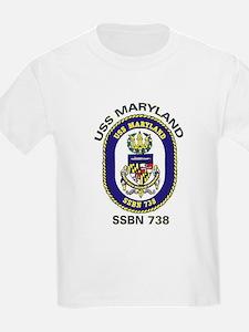 USS Maryland SSBN 738 Kids T-Shirt