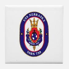 USS Nebraska SSBN 739 Tile Coaster