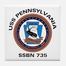 USS Pennsylvania SSBN 735 Tile Coaster