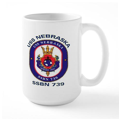 USS Nebraska SSBN 739 Large Mug