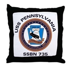 USS Pennsylvania SSBN 735 Throw Pillow