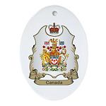 Canada Shield Oval Ornament